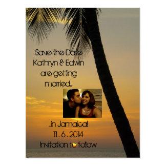 Het tropische Huwelijk van de Bestemming bewaart Briefkaart