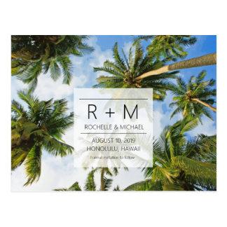 Het tropische Huwelijk van het Strand bewaart de Briefkaart