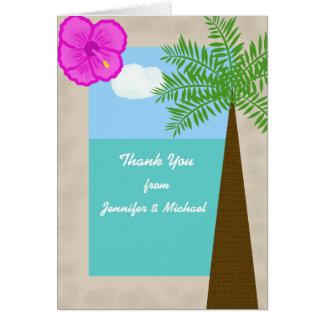 Het tropische Huwelijk van het Strand dankt u Briefkaarten 0