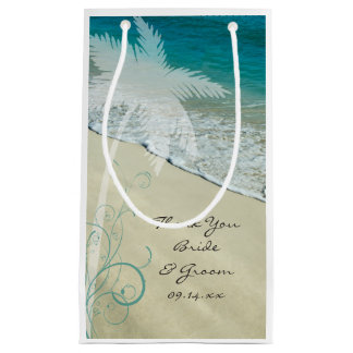 Het tropische Huwelijk van het Strand dankt u Klein Cadeauzakje