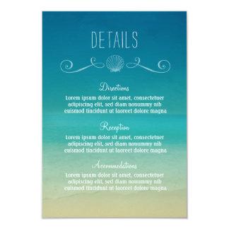 Het tropische Huwelijk van het Strand detailleert Kaart