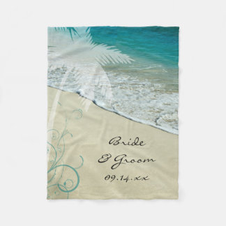 Het tropische Huwelijk van het Strand Fleece Deken
