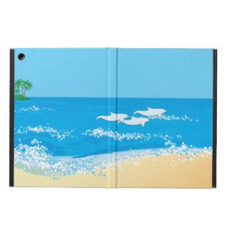 Het tropische Ontwerp van de Dolfijn van het iPad Air Hoesje