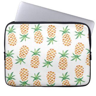 Het tropische Patroon van de Ananas Laptop Sleeve
