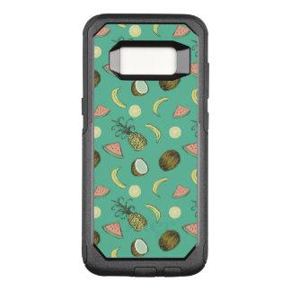 Het tropische Patroon van de Krabbel van het Fruit OtterBox Commuter Samsung Galaxy S8 Hoesje