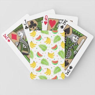 Het tropische Patroon van de Stip van het Fruit Bicycle Speelkaarten