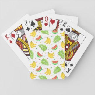 Het tropische Patroon van de Stip van het Fruit Speelkaarten