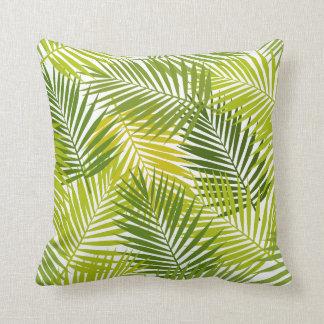Het tropische Patroon van Palmbladen Sierkussen
