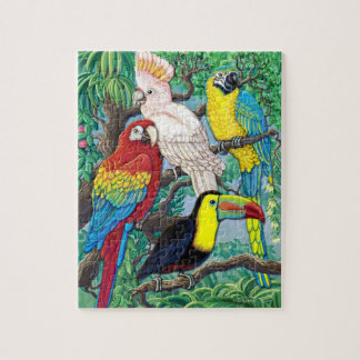 Het tropische raadsel van Vogels Legpuzzel