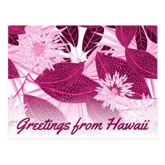 Het tropische roze bevlekte bloemen briefkaart