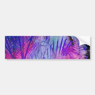Het tropische roze paarse patroon van bumpersticker