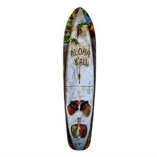 Het Tropische skateboard van Aloha Y'ALL