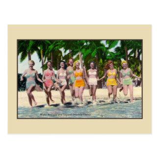 Het tropische strand Florida van vintage Briefkaart