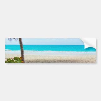 Het tropische Strand van het Paradijs Bumpersticker