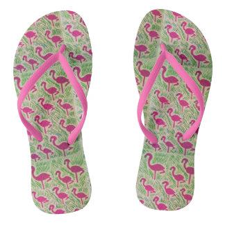 Het tropische Teenslipper van de Flamingo Teenslippers