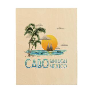 Het tropische Varen Cabo San Lucas Mexico Hout Afdruk