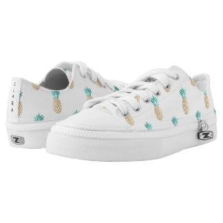het tropische verse patroon van de de zomer faux low top schoenen