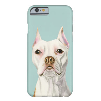 "Het ""trotse en Lange"" Witte Portret van de Hond Barely There iPhone 6 Hoesje"