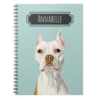 """Het """"trotse en Lange"""" Witte Portret van de Hond Notitieboek"""