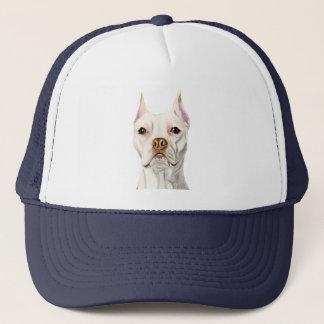 """Het """"trotse en Lange"""" Witte Portret van de Hond Trucker Pet"""