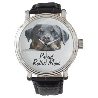 Het trotse Gezicht van de Hond van Rottweiler van Polshorloge