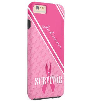 Het trotse Roze Lint van de Overlevende van Kanker Tough iPhone 6 Plus Hoesje