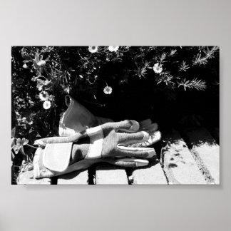 Het tuinieren Handschoenen Poster