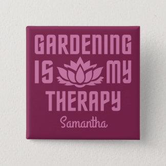 Het tuinieren van de douanenaam & kleur knoop vierkante button 5,1 cm