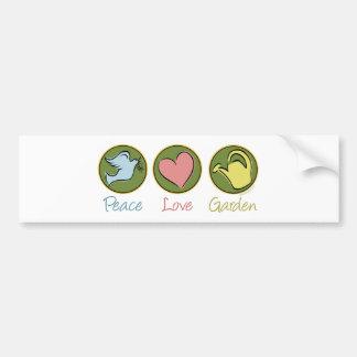 Het Tuinieren van de Liefde van de vrede Bumpersticker