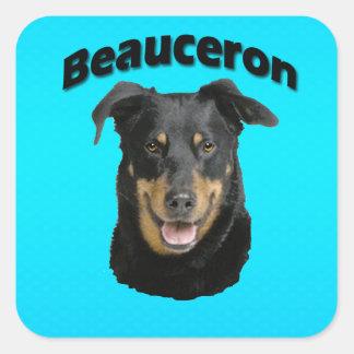 Het Turkoois van Beauceron Vierkante Sticker