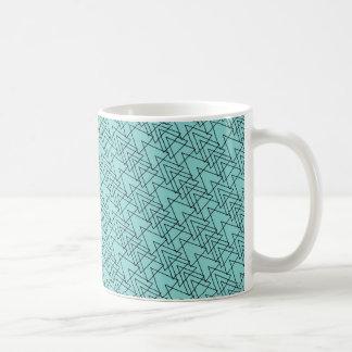 Het turkoois van de het patroonmok van de chevron koffiemok