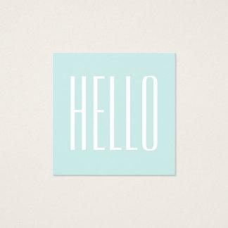 Het turkooise/blauwe minimalistische visitekaartje vierkant visitekaartjes