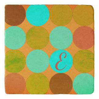 Het turkooise Blauwgroene & Oranje Monogram van Trivet