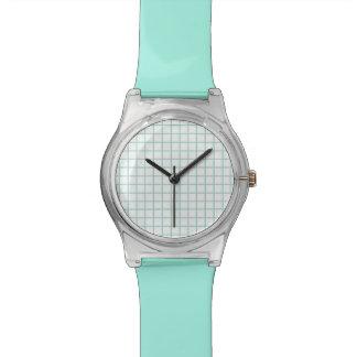 Het turkooise en Witte Horloge van het Gezicht van
