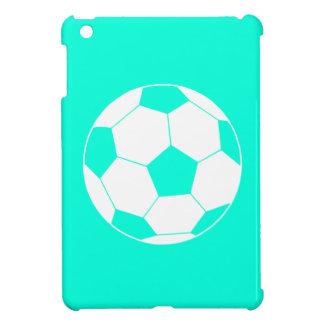 Het turkooise MiniHoesje van de Bal van het Voetba iPad Mini Hoesje