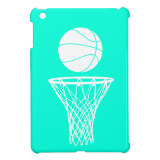 Het turkooise MiniHoesje van het Basketbal iPad iPad Mini Case