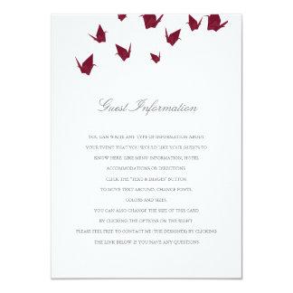 Het Tussenvoegsel van het Huwelijk van de Kranen 11,4x15,9 Uitnodiging Kaart