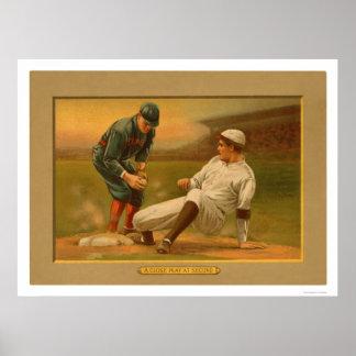 Het tweede Honkbal 1911 van het Spel van de Basis Poster