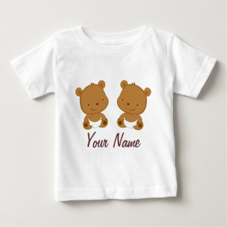 Het tweeling Baby draagt Gepersonaliseerde Gift Baby T Shirts