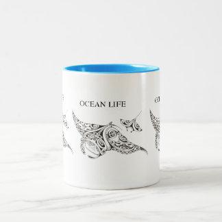 het tweeling stralen OCEAANLEVEN Tweekleurige Koffiemok