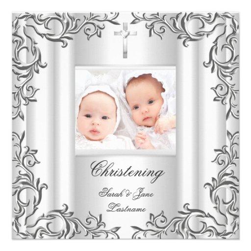 Het tweeling Wit van het Doopsel van het Doopsel v Aankondigingen