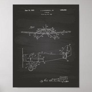 Het Type van vliegtuig - het Bord van de Kunst van Poster