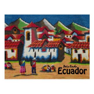 Het typische Tapijtwerk van Ecuador Otavalo Briefkaart
