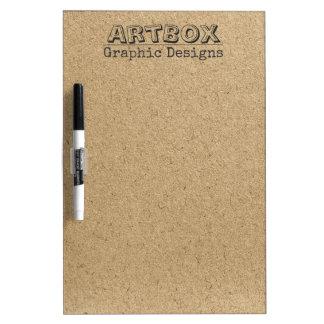 Het typografische Document van Kraftpapier Whiteboard
