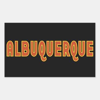 Het typografische ontwerp van Albuquerque New Rechthoekige Sticker