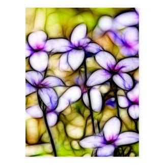 Het uiterst kleine Art. van de Batik van Bluet Briefkaart
