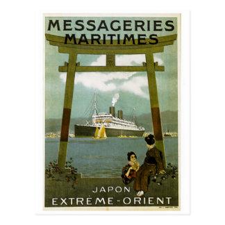Het Uiterste van Maritimes Japon van Messageries Briefkaart
