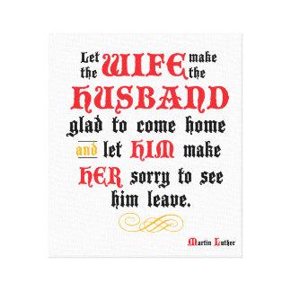 Het Uitgerekte Canvas van de echtgenoot & van de