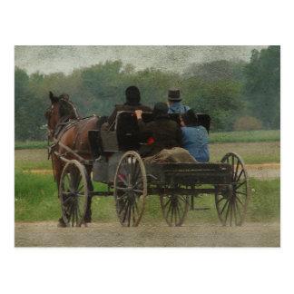 Het Uitje van de Familie van Amish Briefkaart