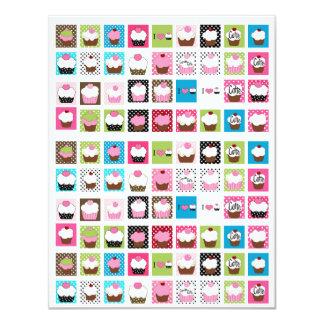 Het uitnodigen Cupcakes…; ) SRF 10,8x13,9 Uitnodiging Kaart